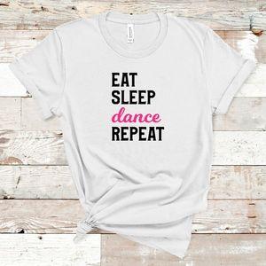 Eat Sleep Dance Repeat Adult Tee